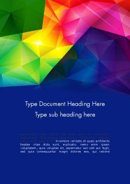 Vivid And Colorful Polygon Abstract Word Template 13401