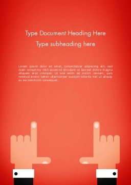 Cropping Hands Word Template Cover Page