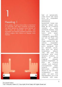 Cropping Hands Word Template, First Inner Page, 13402, Careers/Industry — PoweredTemplate.com