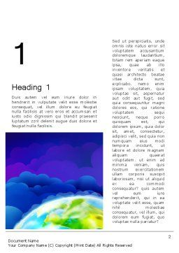 Outer Space Abstract Word Template, First Inner Page, 13403, Global — PoweredTemplate.com