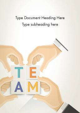 Team Building Blocks Word Template, Cover Page, 13406, Careers/Industry — PoweredTemplate.com