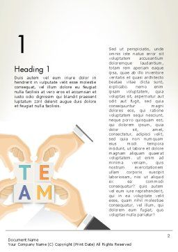 Team Building Blocks Word Template, First Inner Page, 13406, Careers/Industry — PoweredTemplate.com