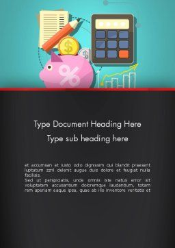 Accounting Software Word Template, Cover Page, 13407, Financial/Accounting — PoweredTemplate.com