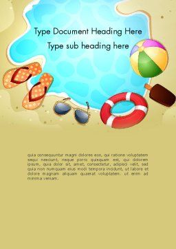 Leisure Word Template, Cover Page, 13408, Holiday/Special Occasion — PoweredTemplate.com