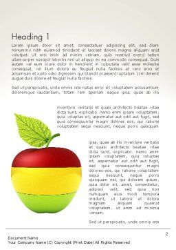 Multi Colored Apple Word Template, First Inner Page, 13423, Food & Beverage — PoweredTemplate.com