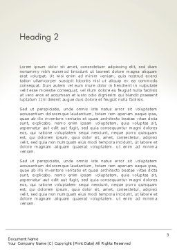 Multi Colored Apple Word Template Second Inner Page
