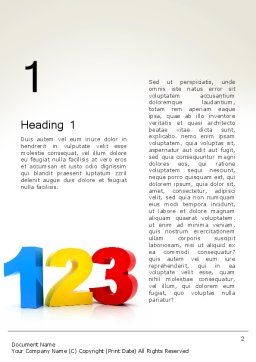 Numbers 123 Word Template First Inner Page