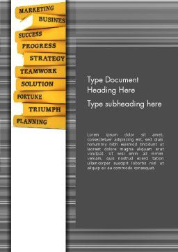 Business Books Word Template, Cover Page, 13427, Education & Training — PoweredTemplate.com