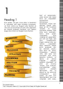 Business Books Word Template, First Inner Page, 13427, Education & Training — PoweredTemplate.com