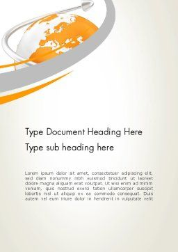 Orange Countries Word Template Cover Page