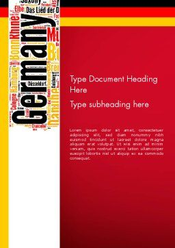 Germany Word Cloud Word Template, Cover Page, 13432, Flags/International — PoweredTemplate.com