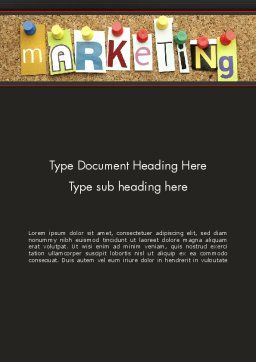 Marketing and Advertising Word Template Cover Page