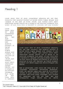 Marketing and Advertising Word Template First Inner Page