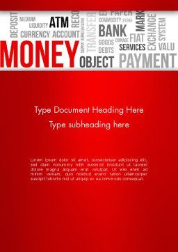 Money Word Cloud Word Template Cover Page
