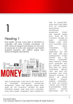 Money Word Cloud Word Template First Inner Page