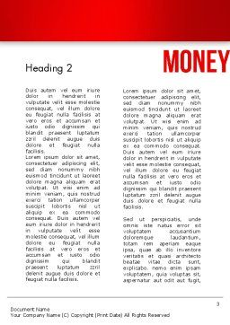 Money Word Cloud Word Template Second Inner Page
