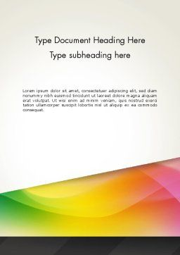 Orange Green Gradient Word Template, Cover Page, 13445, Business — PoweredTemplate.com