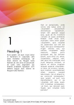 Orange Green Gradient Word Template, First Inner Page, 13445, Business — PoweredTemplate.com