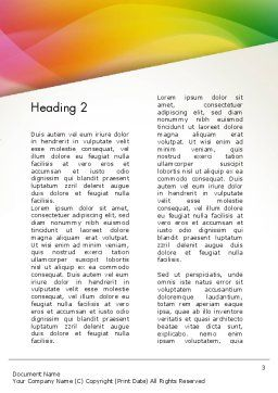 Orange Green Gradient Word Template, Second Inner Page, 13445, Business — PoweredTemplate.com