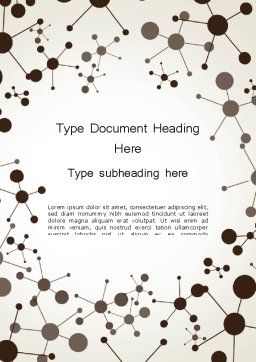 Molecule Background Word Template, Cover Page, 13447, Technology, Science & Computers — PoweredTemplate.com