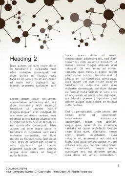 Molecule Background Word Template, Second Inner Page, 13447, Technology, Science & Computers — PoweredTemplate.com