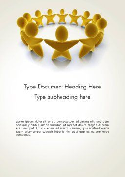 Golden Circle Word Template, Cover Page, 13451, 3D — PoweredTemplate.com