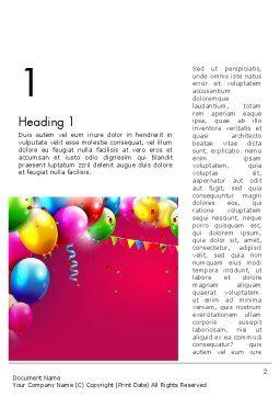 Colorful Birthday Word Template, First Inner Page, 13452, Holiday/Special Occasion — PoweredTemplate.com