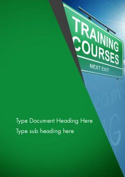 Training Courses Word Template, Cover Page, 13461, Education & Training — PoweredTemplate.com