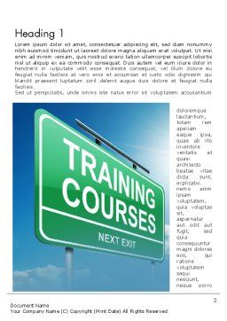 Training Courses Word Template, First Inner Page, 13461, Education & Training — PoweredTemplate.com