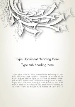Abstract Swarm of Paper Arrows Word Template Cover Page