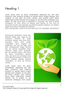 Green Technologies Word Template, First Inner Page, 13469, Nature & Environment — PoweredTemplate.com
