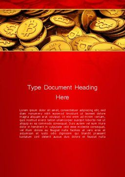Scattered Bitcoins Word Template, Cover Page, 13471, Financial/Accounting — PoweredTemplate.com