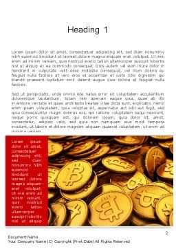 Scattered Bitcoins Word Template First Inner Page