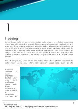 Turquoise World Map Word Template, First Inner Page, 13472, Global — PoweredTemplate.com