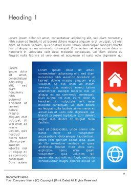 Customer Support Concept Presentation Word Template First Inner Page