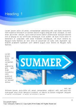 Summer Sign Word Template, First Inner Page, 13480, Holiday/Special Occasion — PoweredTemplate.com