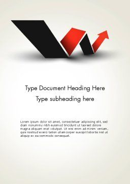 Rising Arrow Shaped Like Letter W Word Template, Cover Page, 13483, Business Concepts — PoweredTemplate.com