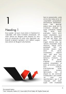 Rising Arrow Shaped Like Letter W Word Template, First Inner Page, 13483, Business Concepts — PoweredTemplate.com