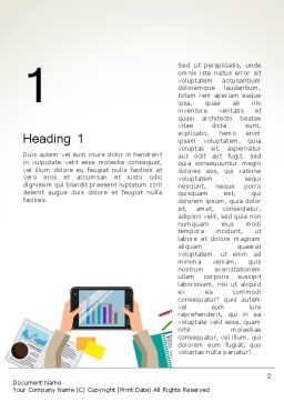 Company Performance Analysis Word Template, First Inner Page, 13487, Consulting — PoweredTemplate.com