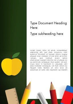 Preparing for School Word Template Cover Page