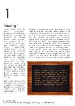 Blackboard Wooden Menu Word Template First Inner Page