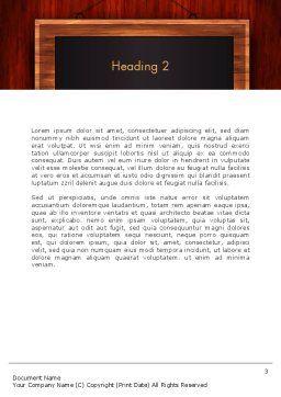 Blackboard Wooden Menu Word Template Second Inner Page