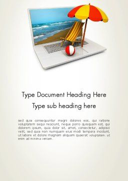 Online Booking Word Template Cover Page