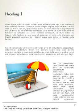 Online Booking Word Template First Inner Page