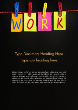 Work Planning Word Template, Cover Page, 13496, Education & Training — PoweredTemplate.com
