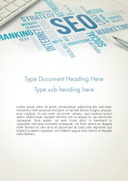SEO Marketing Word Template, Cover Page, 13500, Careers/Industry — PoweredTemplate.com