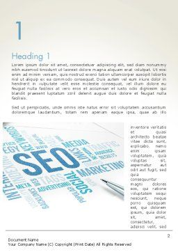 SEO Marketing Word Template, First Inner Page, 13500, Careers/Industry — PoweredTemplate.com