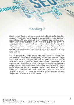 SEO Marketing Word Template Second Inner Page