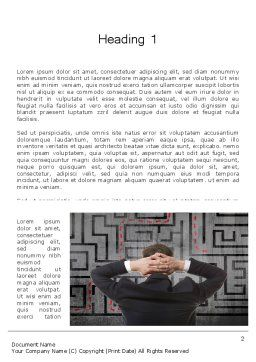Exit Strategy Concept Word Template, First Inner Page, 13501, Consulting — PoweredTemplate.com