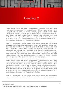Exit Strategy Concept Word Template, Second Inner Page, 13501, Consulting — PoweredTemplate.com